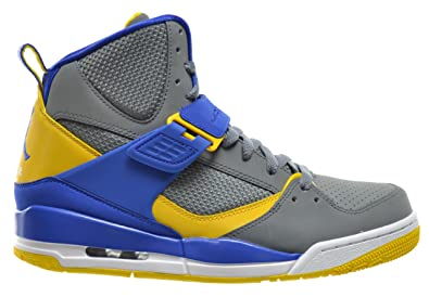 new concept 2ab74 b40b9 Jordan Flight 45 High Men s Basketball Shoes Cool Grey Yellow-Gym Royal  616816-