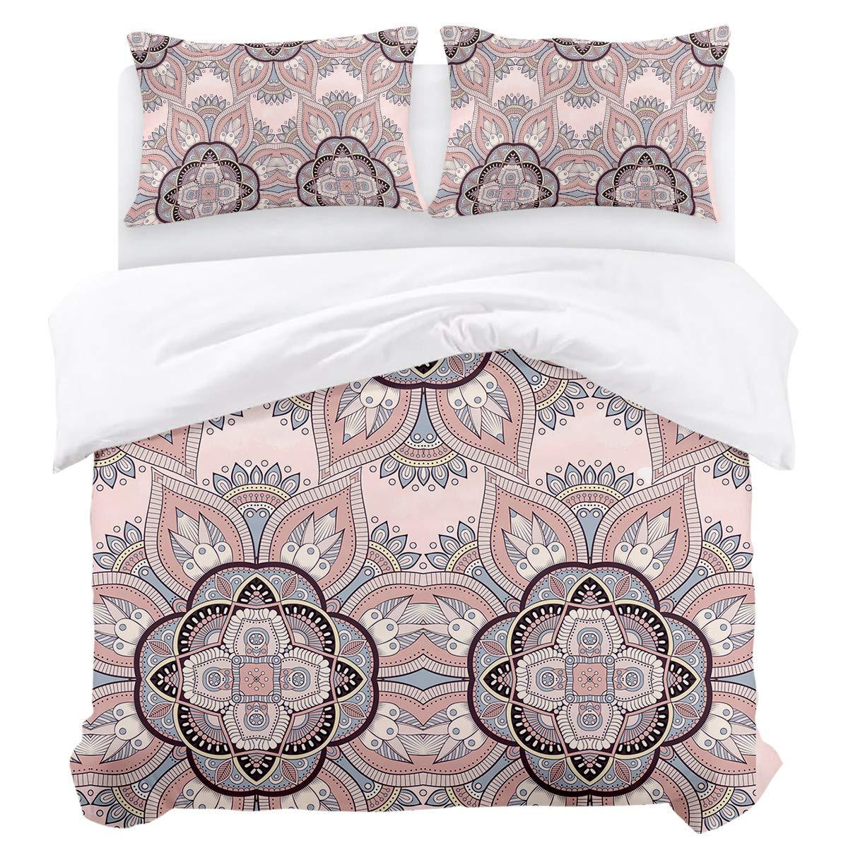 BABE MAPS ツインサイズ掛け布団カバー3点セット 美しい空のデザイン 寝具セット 超柔らか 通気性 非常に丈夫なツイルフラシ天 子供/ティーン/大人用 Twin Size B07Q8SM61G India11bms9393 Twin Size
