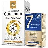 Solgar Full Spectrum Curcumin Liquid Extract Softgels - 60 Count, 60 Servings - Bonus 14 Count Trial Size of Solgar No…