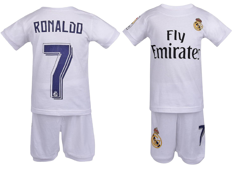 new york 169a2 55f8b Soccer PJs Cristiano Ronaldo #7 jersey style Pajama ✓ Real PJ Madrid  Ronaldo 7 Soccer Jersey & Shorts Kids 100% Cotton Pyjama Sleepwear Set ✓  Premium ...