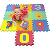 Matney Foam Mat of Number Puzzle Pieces– Great for Kids to Learn and Play – Interlocking Puzzle Pieces