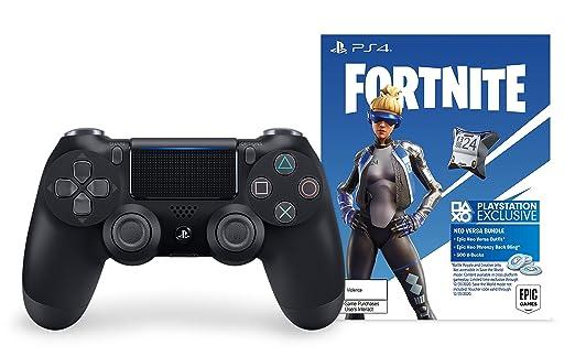 Amazon.com: DualShock 4 Wireless Controller for PlayStation 4 - Fortnite  Jet Black: Video Games