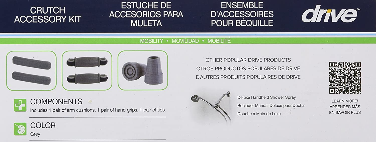 Amazon.com: Drive Medical Muleta Accessory Kit de repuesto ...