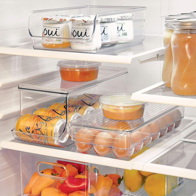 iDesign Caja organizadora para frigorífico con tapa, organizador ...