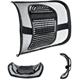 "Mesh Lumbar Support for Car Seat or Office Chair, VEY Breathable Seating Cushion for All Types Car Seats Office Chair 12"" x 16"""