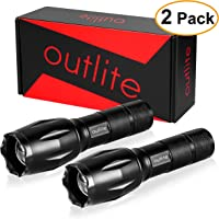 2-Pack Outlite 5-Modes LED Tactical Flashlight