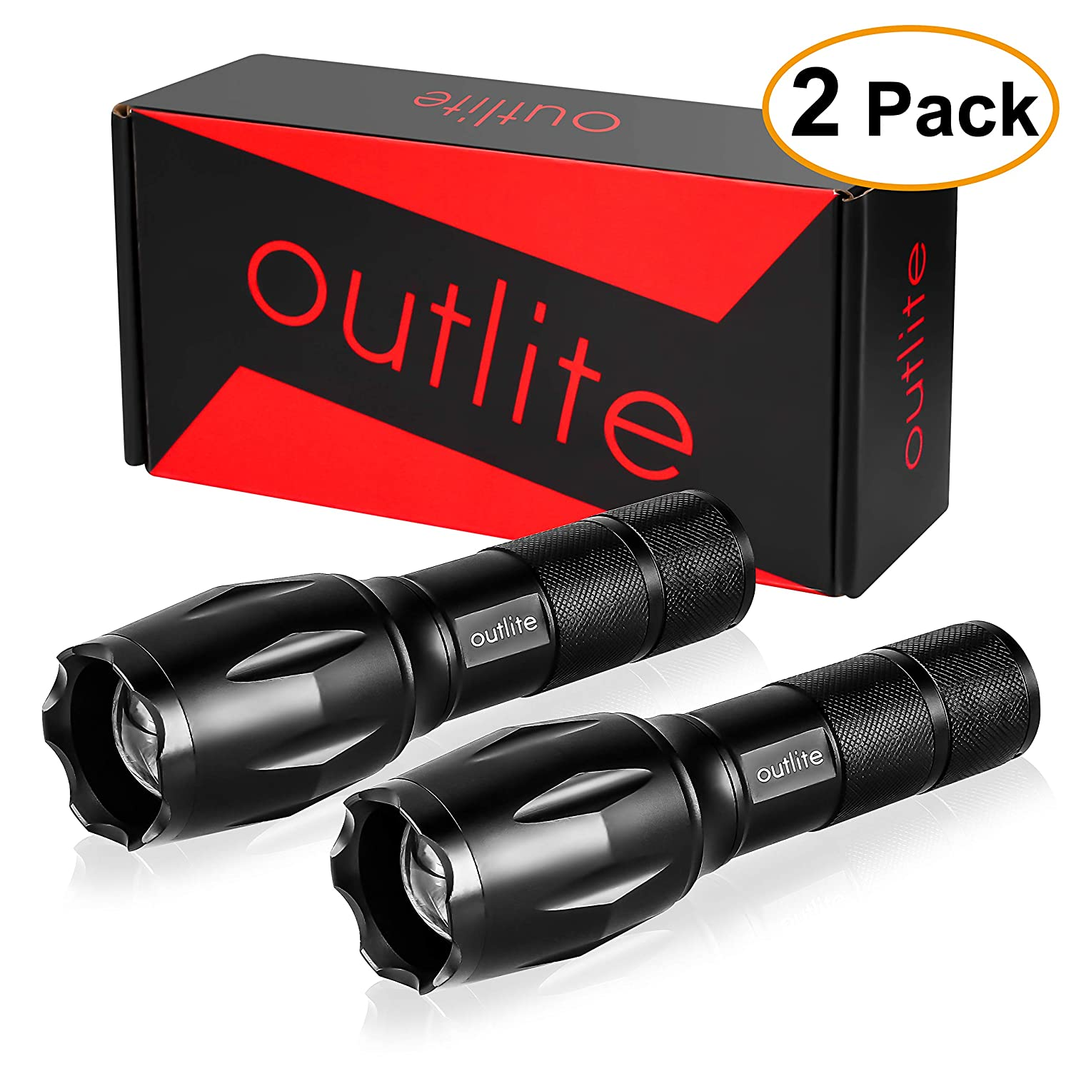 Outlite LED Tactical 2-Pack Fl...