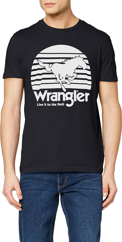 Wrangler Mens Live It Regular Fit Casual Cotton Crew Neck T-Shirt Top Tee