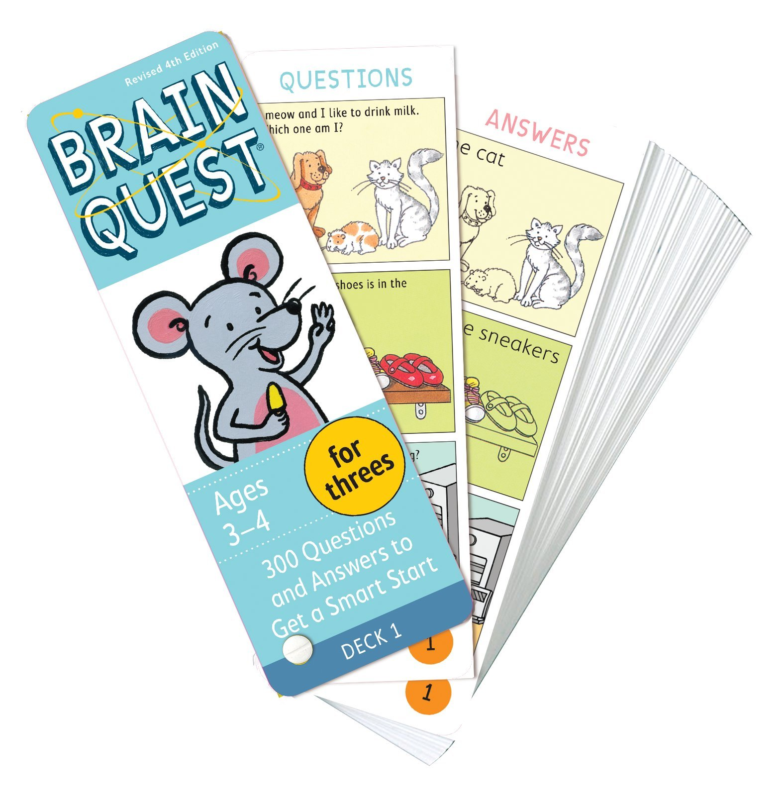 Brain Quest for Threes, revised 4th edition: 300 Questions and Answers to Get a Smart Start by Brainquest (Image #1)