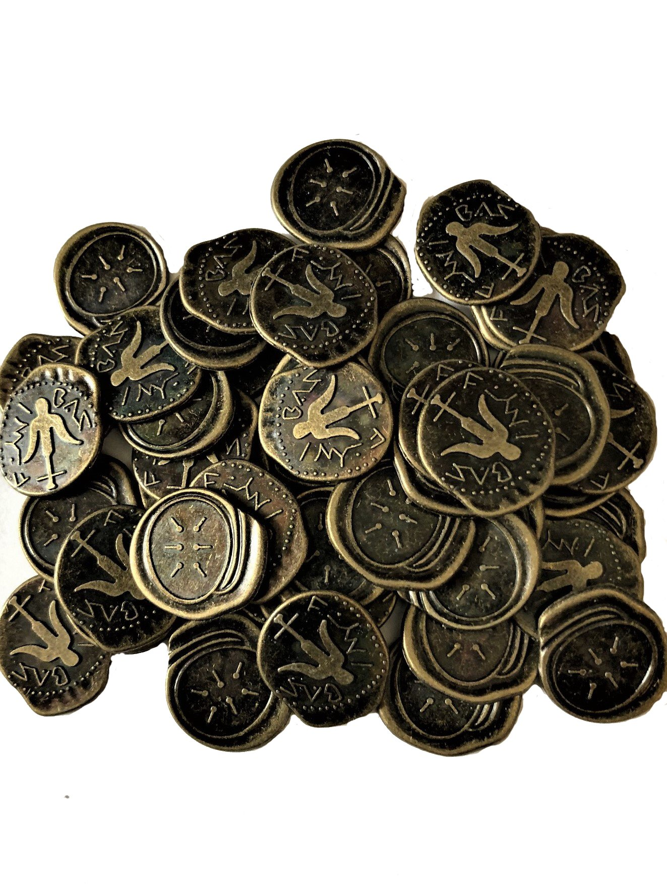 Widow's Mite Coins Reproduction Antique Bronze Bags of 50