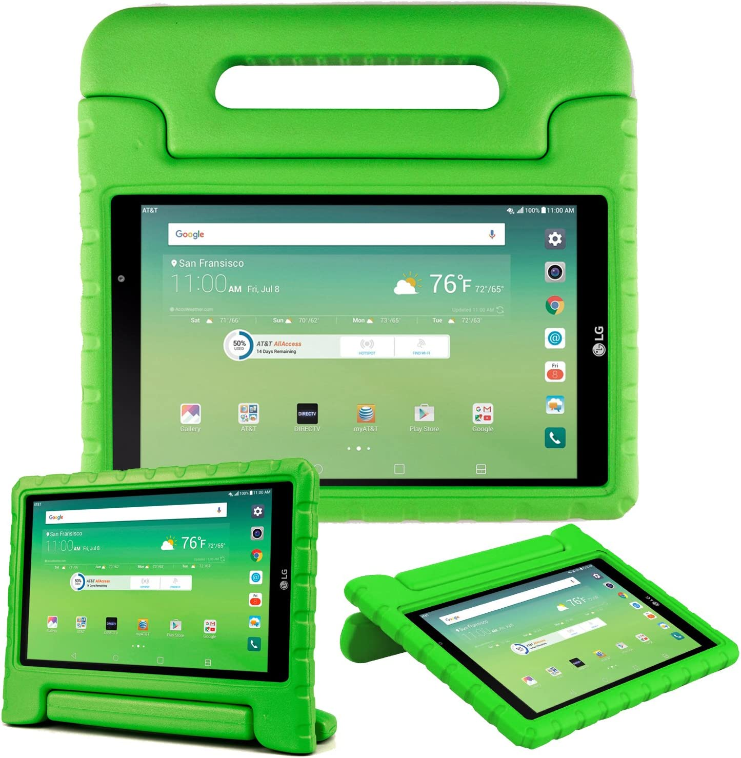Bolete LG G Pad X 8.0 Inch kids Case, Shock Proof Super Protective Eva Foam Case Cover With Handle Stand for LG G Pad X 8.0 T-Mobile V521 / AT&T V520 Tablet, Green