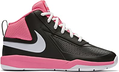 289f54c541 Image Unavailable. Image not available for. Colour: Nike Boy's Team Hustle  D 7 Basketball Shoe Black/White/Hyper Pink Size 13