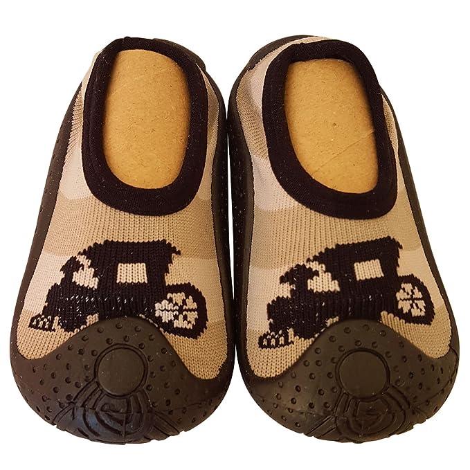 C2BB - Calcetines con suela antideslizante para niños | Locomotora - Talla: 23