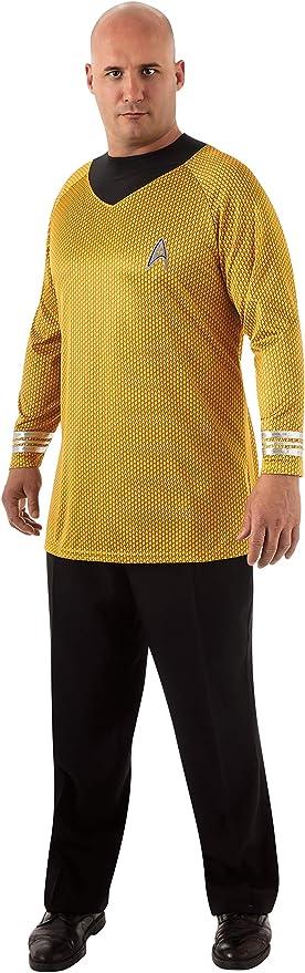 Disfraz de Capitán Kirk Star Trek para hombre talla grande: Amazon ...