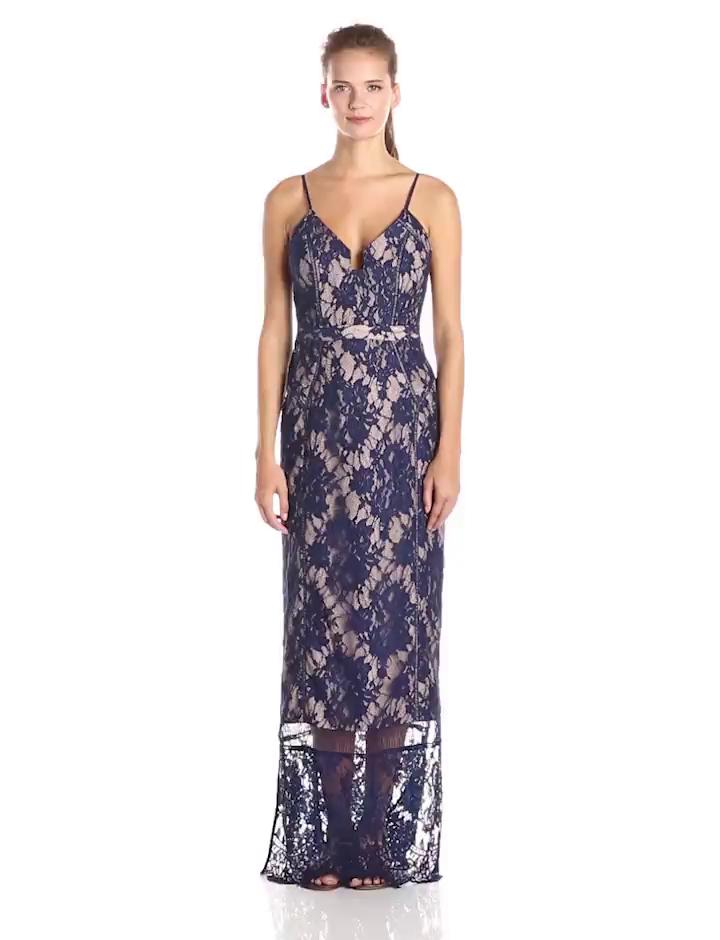 Amazon.com: StyleStalker Women\'s Visions Lace Maxi Dress, Royal Blue ...