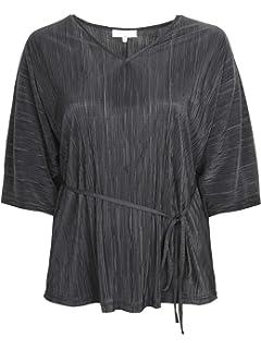 a95c8e156edae Lovedrobe GB Women s Plus Size Black Ruffle Work Shirt  Amazon.co.uk ...