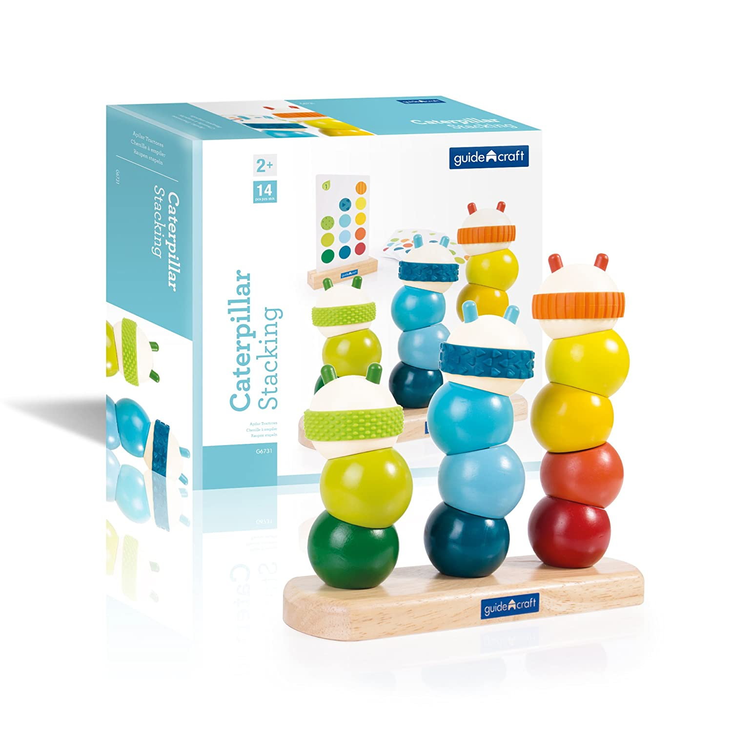 Kids Early Learning Development Toys Manipulative Toddler Toy Guidecraft Caterpillar Stacking