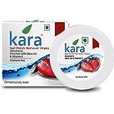 Kara Wipes Nail Polish Remover, Strawberry (30 Pulls)