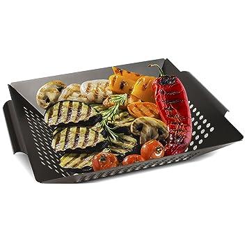 MARTA parrilla – Hierro cesta de verduras para perfecto gegartes & gebräuntes verdura, carne y