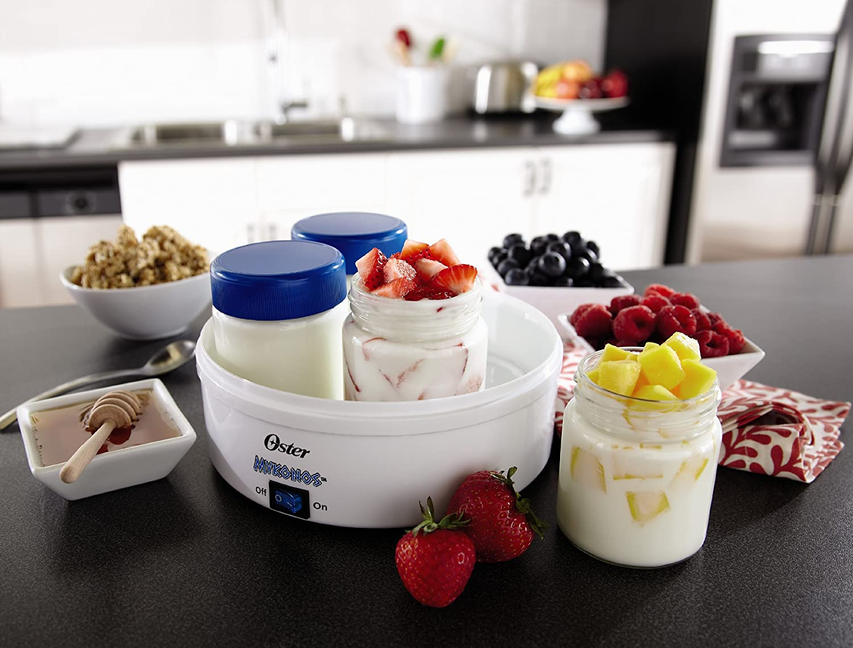Oster CKSTYM1001 Mykonos Greek Manual Yogurt Maker, 1-Quart: Kitchen & Dining