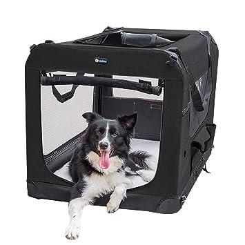 Veehoo jaula plegable para perros, 3 puertas para perros de ...
