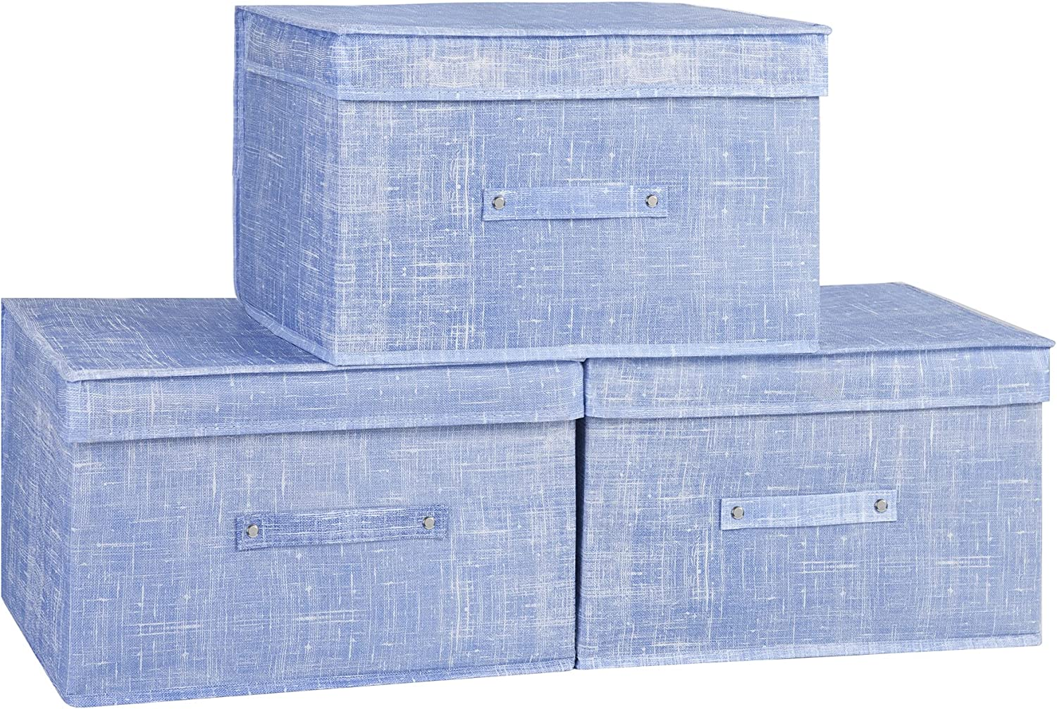 Huygens Foldable Storage Bins with Lids,Fabric Foldable Storage Box,Suitable for Toys,Clothes,Papers,Books and Shelves
