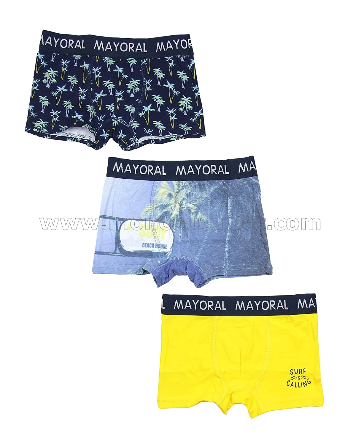Mayoral Boy's 3-Piece Boxers Set, Sizes 2-9