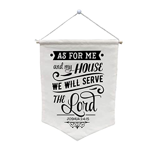 Amazon Com As For Me And My House We Will Serve The Lord Wall Banner Customize Wb38 Handmade