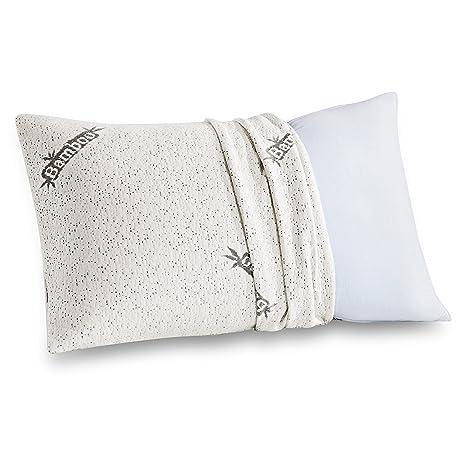 Amazon Comfort Relax Shredded Memory Foam Pillow With Bamboo Cool Bamboo Covered Memory Foam Pillow