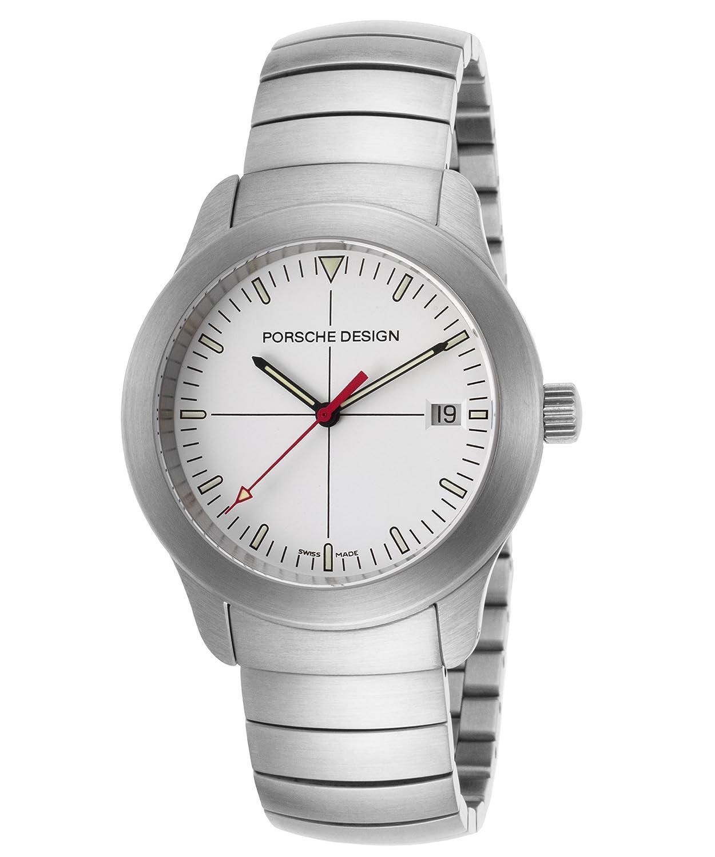 Porsche Design Herren-Armbanduhr 39mm Armband Edelstahl + GehÄuse Schweizer Quarz Analog 6601-41-10-0135-F