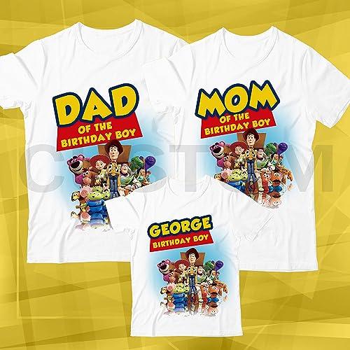 Amazon Toy Story Birthday Shirt Custom Name And Age Personalized Family Handmade