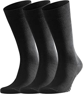 FALKE Men's Family 3-Pack Socks-94% Cotton Socks