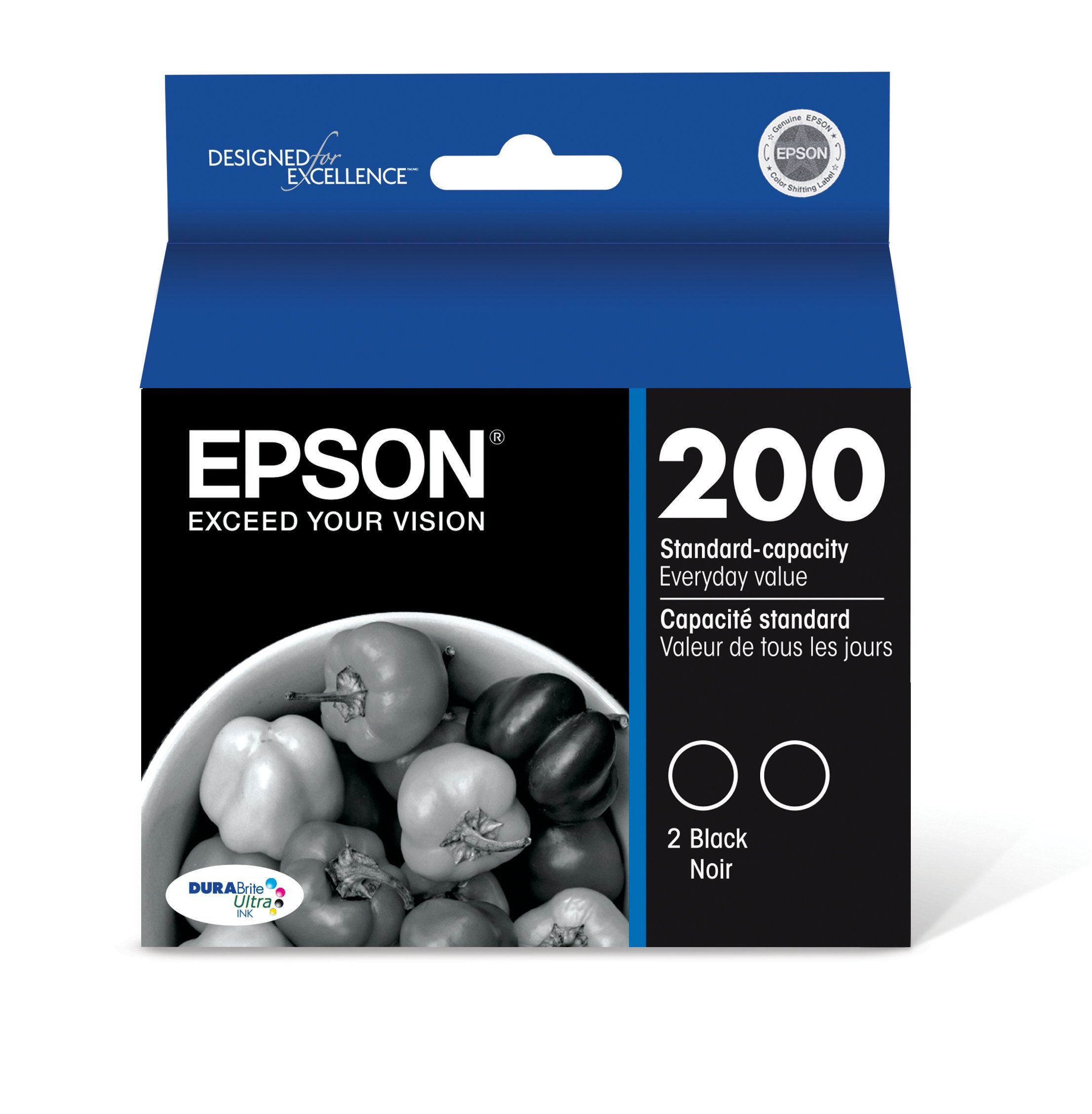 Epson T200120-D2 DURABrite Ultra Black Dual Pack Standard Capacity Cartridge Ink