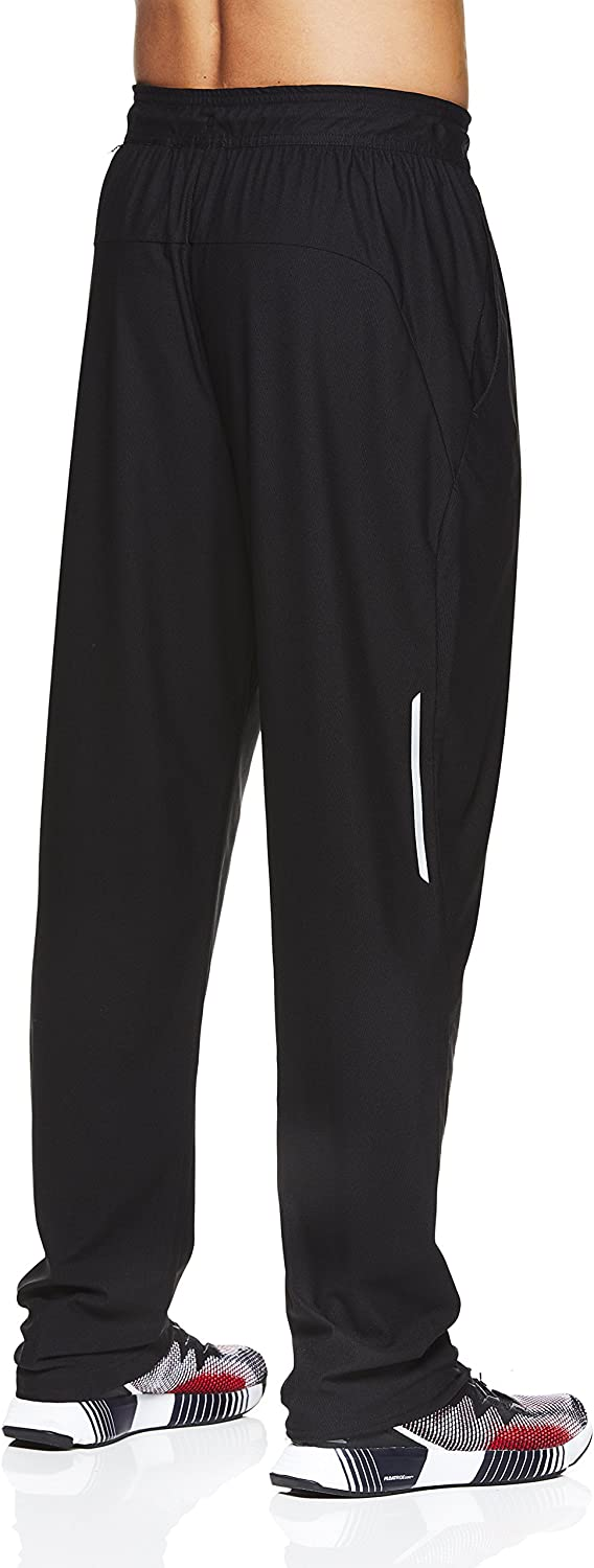 Performance Activewear Running /& Workout Bottoms Reebok Mens Stride Track Pants