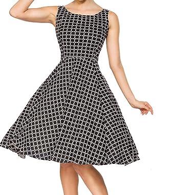 Unbekannt Kurzes Swing Kleid im High Waist Schnitt mit Taillennaht und  Tellerrock weiß kariert und Schulterfrei Bandeau  Amazon.de  Bekleidung 62dfbaeff7
