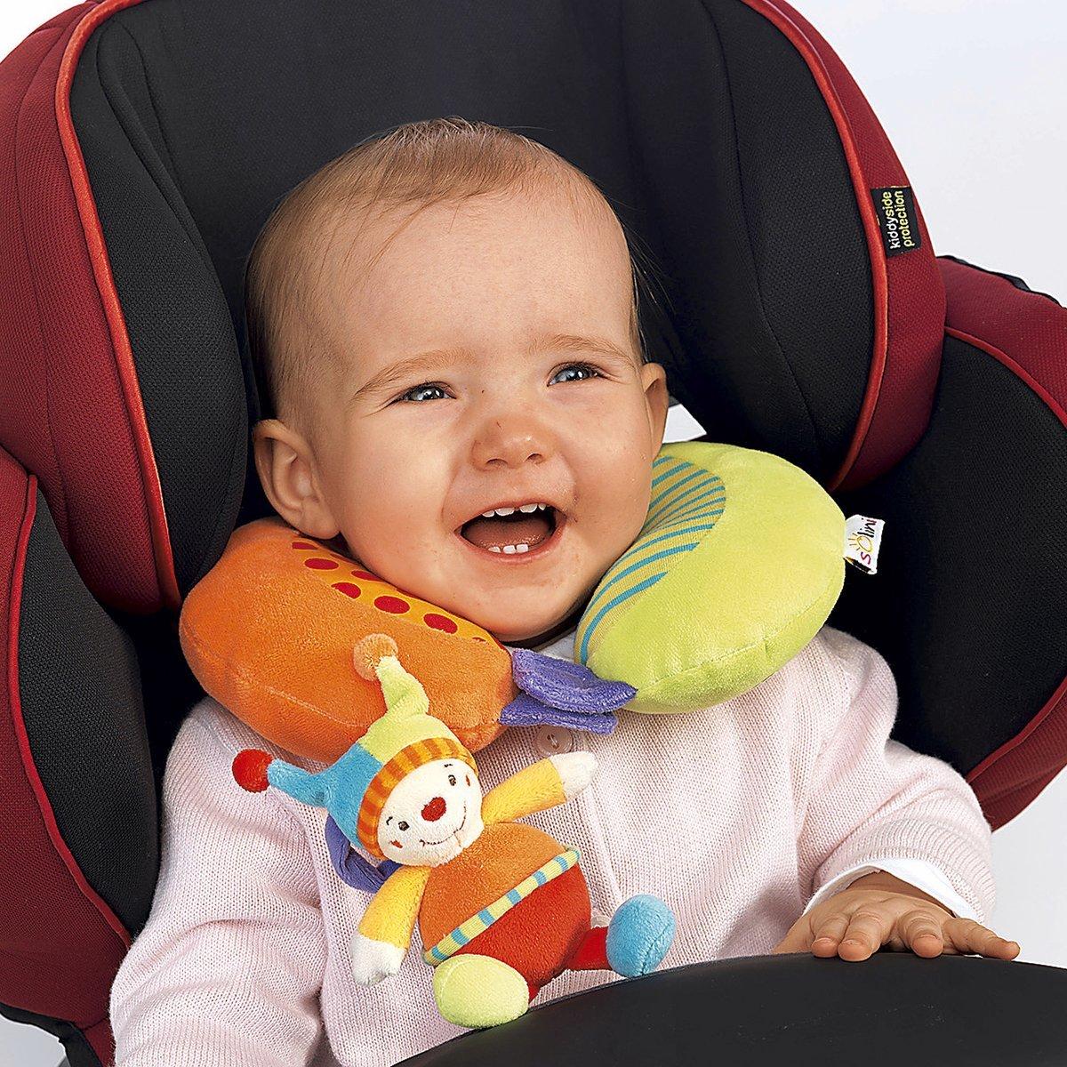 SOLINI Baby-Nackenst/ütze Clown Auto-Zubeh/ör Nackenrolle Nackenh/örnchen mehrfarbig