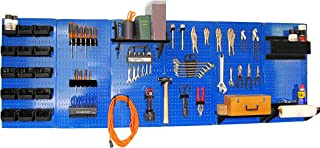 product image for Pegboard Organizer 8 ft Wall Control Pegboard Master Workbench Kit with Blue Toolboard and Black Pegboard Hooks