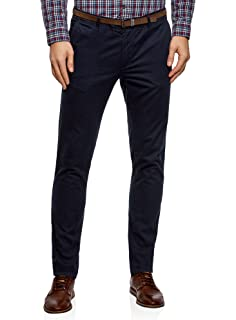 oodji Ultra Homme Pantalon Chino Slim Fit  Amazon.fr  Vêtements et ... b411783054a