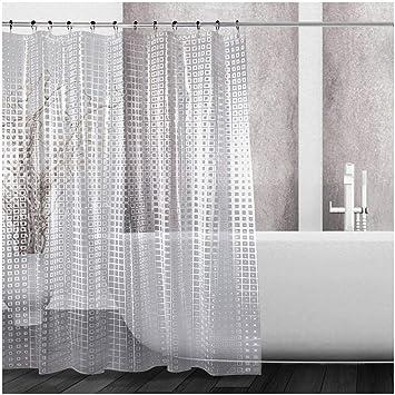 antibakterielles PEVA Material Badewannenvorhang Duschvorhang 180x200cm weiß