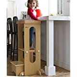 Little Partners Explore n Store Learning Tower Kids Adjustable Height Kitchen Step Stool for Toddlers or Any Little Helper (N