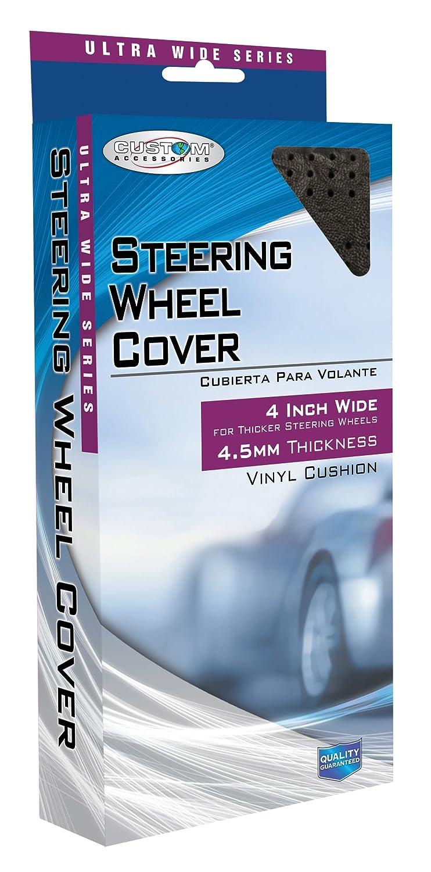 Custom Grip 37503 Black//Red Sport Coreless Steering Wheel Cover
