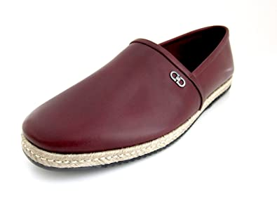 f49ab75fe99 Salvatore Ferragamo Giunone 2 Mens Wine Leather Slip on Loafers Made in  Italy (12 D