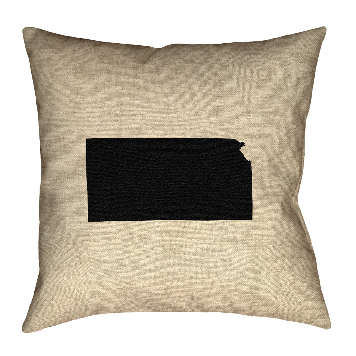 ArtVerse Katelyn Smith 26 x 26 Cotton Twill Double Sided Print with Concealed Zipper /& Insert Kansas Pillow