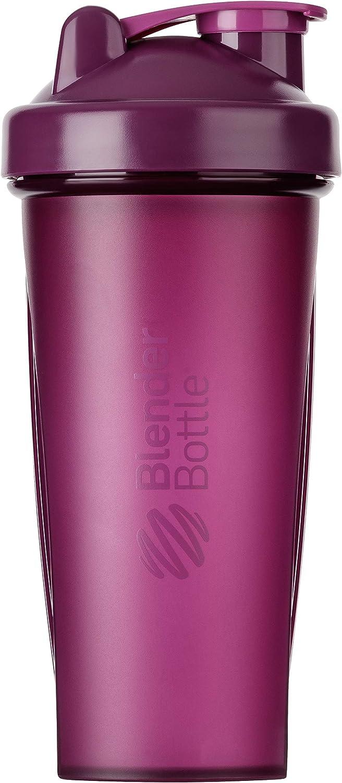BlenderBottle Classic Shaker cup / Diet Shaker / Protein Shaker with Blenderball / 820ml - plum
