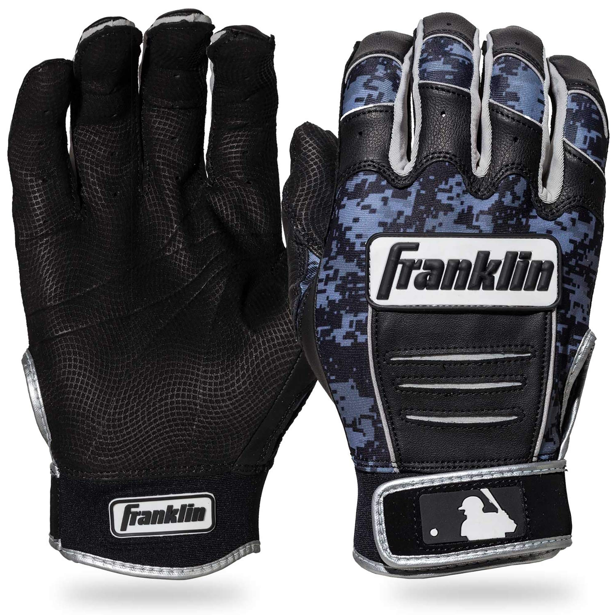 Franklin Sports CFX Pro Digi Series Batting Gloves Black/Black Camo Adult Small