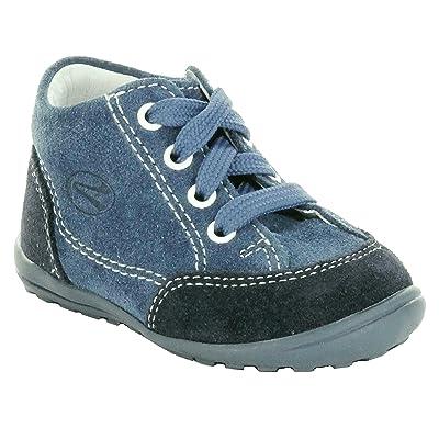 Richter Kinderschuhe Mini 0022-521, Chaussures souple pour bébé (garçon) Bleu Bleu