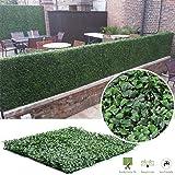 Siepe di bosso artificiale, per proteggere la privacy, pannelli in due tonalità di verde (50,8x 50,8cm, confezione da 6o 12 pezzi), 100x100cm Pack of 6