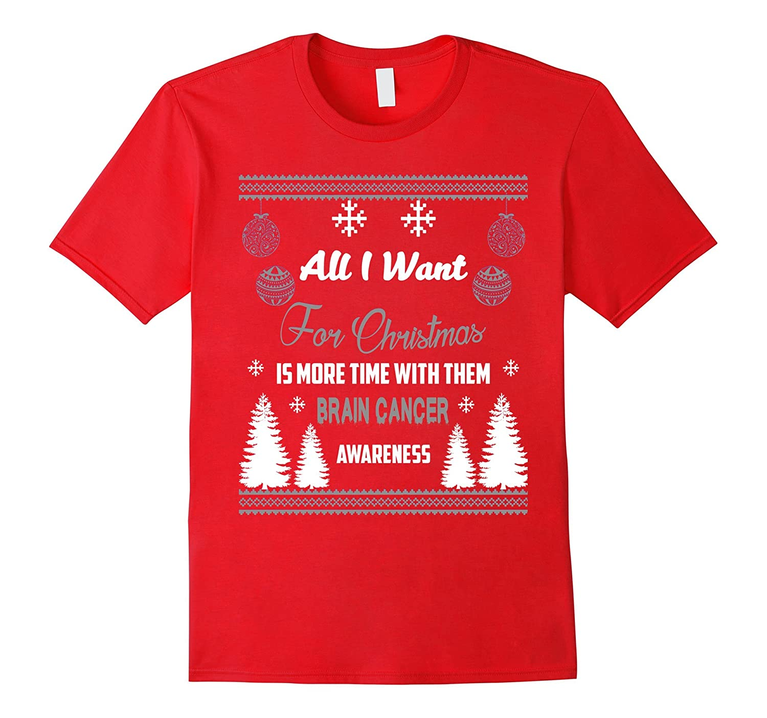 Support Brain Cancer Awareness Christmas Jumper T-Shirt