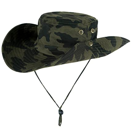 c0278a826932b BAOZOON Sun Hat for Men/Women, Summer Outdoor Sun Protection Wide Brim  Safari Bucket Hat Boonie Hunting Fishing Hat with Adjustable Strap