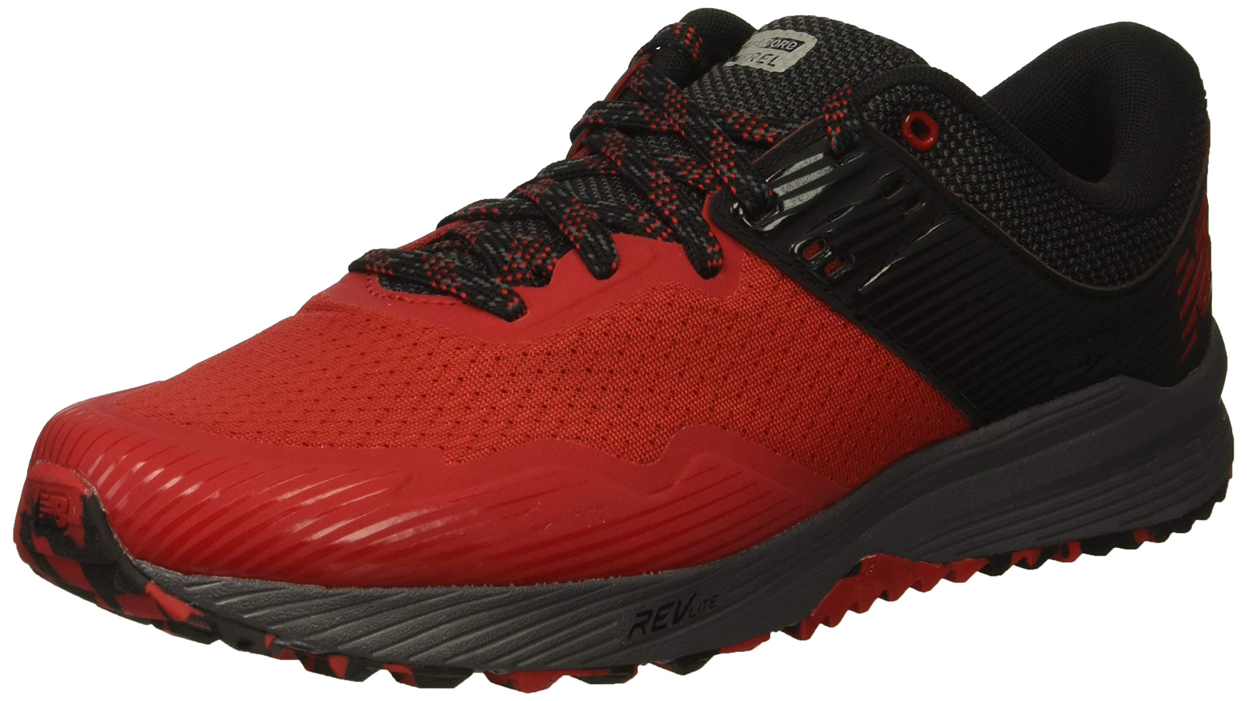 New Balance Men's Nitrel V2 FuelCore Trail Running Shoe, Team red/Black/Magnet, 7 D US